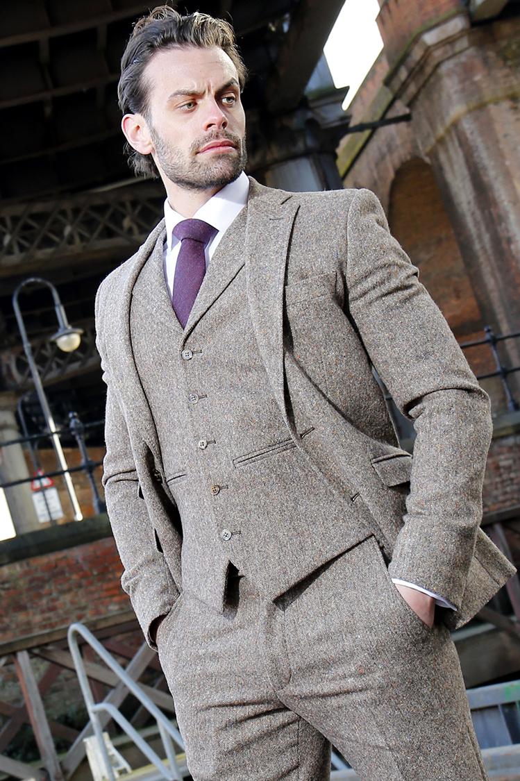01d6f85f2f32 Brown Tweed Slim Fit Suit » John Francis Formalwear